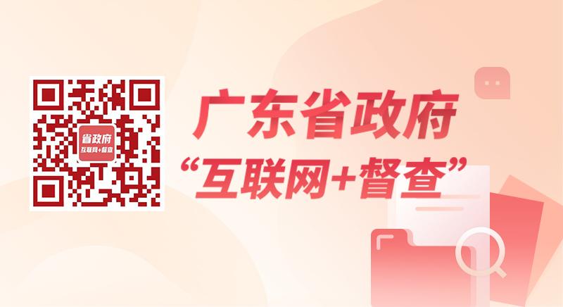 """广东省政府 """"互联网+督查"""""""