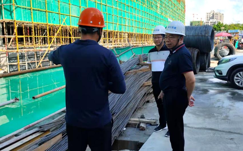 局领导带队检查市管项目安全生产工作