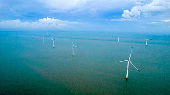 徐闻外罗海上风电项目二期装机完毕