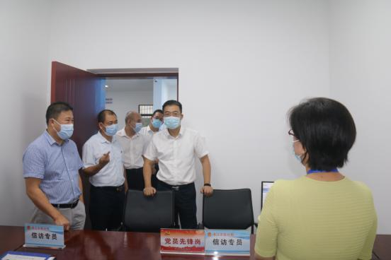 湛江市委副书记李勇毅到市信访局开展调研
